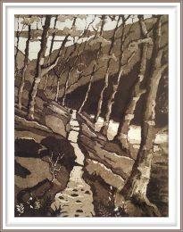 Gerhardt Gallagher 1, Ireland, Upper Lake, 2018, Aquatint Etching, 17 x 23 cm