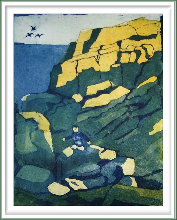 Gerhardt Gallagher 2, Ireland, Rocky Detour, 2017, Aquatint Etching, 18 x 22 cm