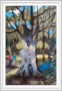 Gerhardt Gallagher 3, Ireland, Park Beech, 2009, Oil on Board, 42 x 57 cm