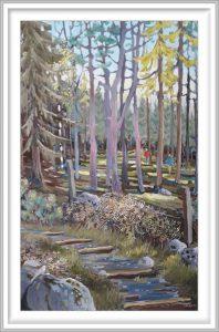 Gerhardt Gallagher 4, Ireland, Lackan Wood, 2014, Oil on Canvas, 51 x 72 cm