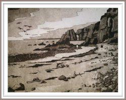 Gerhardt Gallagher 5, Ireland, Copper Coast, 2019, Aquatint Etching, 28 x 23 cm