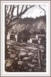 Gerhardt Gallagher 6, Ireland, Barrow Valley, 2016, Aquatint Etching, 20 x 30 cm