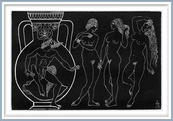 Valentina Anopova 3, Russia, Three Graces, 2002, Engraving on Copper, 10 x 15 cm