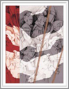 Bie Flameng 10, Belgium, The Lance, 2014, Digital Graphic Art (Mixed Media), 13 x 9,6 cm