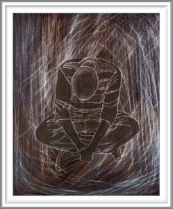 Bie Flameng 05, Belgium, Dream 5, 2018, Digital Graphic Art (Mixed Media), 13 x 10,5 cm