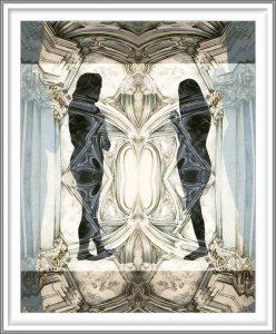 Bie Flameng 06, Belgium, Adam & Eve, 2014, Digital Graphic Art (Mixed Media), 13 x 10,4 cm