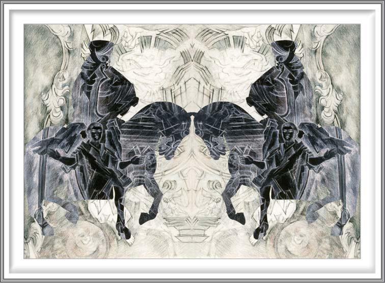 Bie Flameng 08, Belgium, The Just Judges, 2014, Digital Graphic Art (Mixed Media), 13 x 9 cm