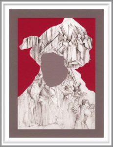 Bie Flameng 09, Belgium, Self Portrait, 2014, Digital Graphic Art (Mixed Media), 13 x 9,5 cm