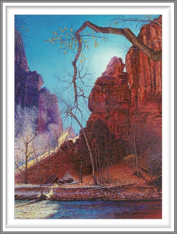 R. Geoffrey Blackburn 1, USA, Stalking Cougar, 2009, Pigment Print, 10.2 x 14 cm
