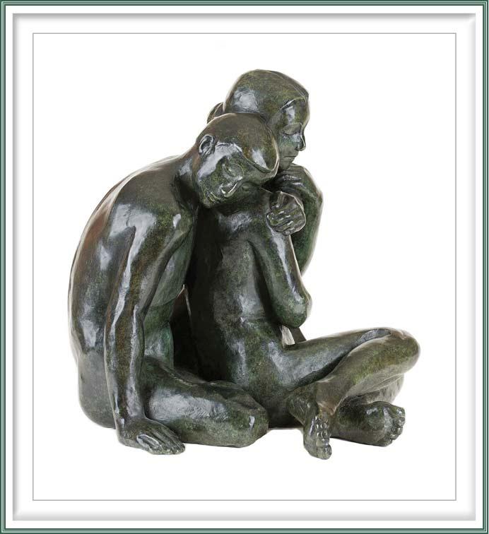 Maud du Jeu 4, France, Sérénité, 2013, Bronze, 29 x 30 x 30 cm