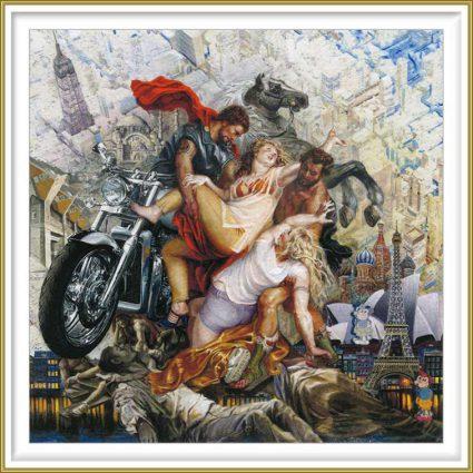 Yvonne Welman 1, Netherlands, Since Leucippos, 2016, Painting, Digital Print,14 x 14 cm