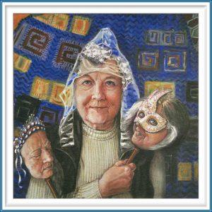Yvonne Welman 4, Netherlands, Cliché 3: Selfies, 2017, Painting, Digital Print, 14 x 14 cm