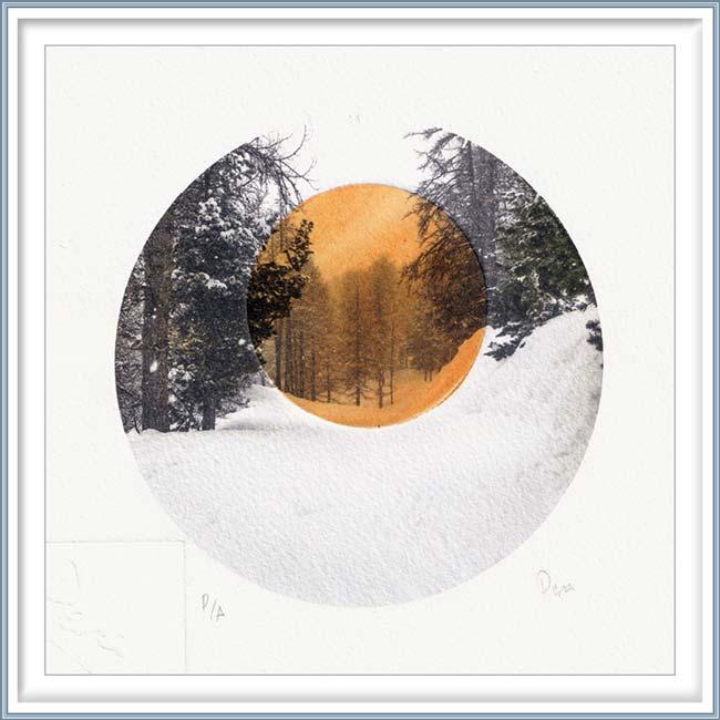 Nuria Pena 3, Spain, The Pause, 2020, Digital Print and Additive Tecnique, 19 x 19 cm