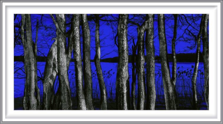 Rune Baashus 2, Norway, Vansjø in Blue, 2019, Photo/DGA, 20 x 10 cm