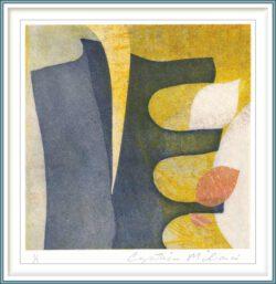 Cynthia Milionis 2, USA, Untitled, 2018, Mixed Media Monoprint, 10,16 x 10,16 cm