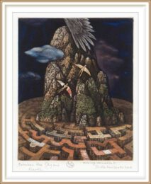 Dimo Kolibarov 1, Bulgaria, Between The Sky and Earth, 2008 Etching Aquatint 2011 15,5 x 19,5 cm