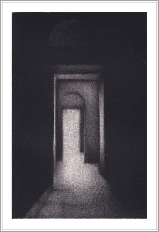 Cleo Wilkinson 4, Australia, Penultimate , 2009, Mezzotint,14 x 5 cm