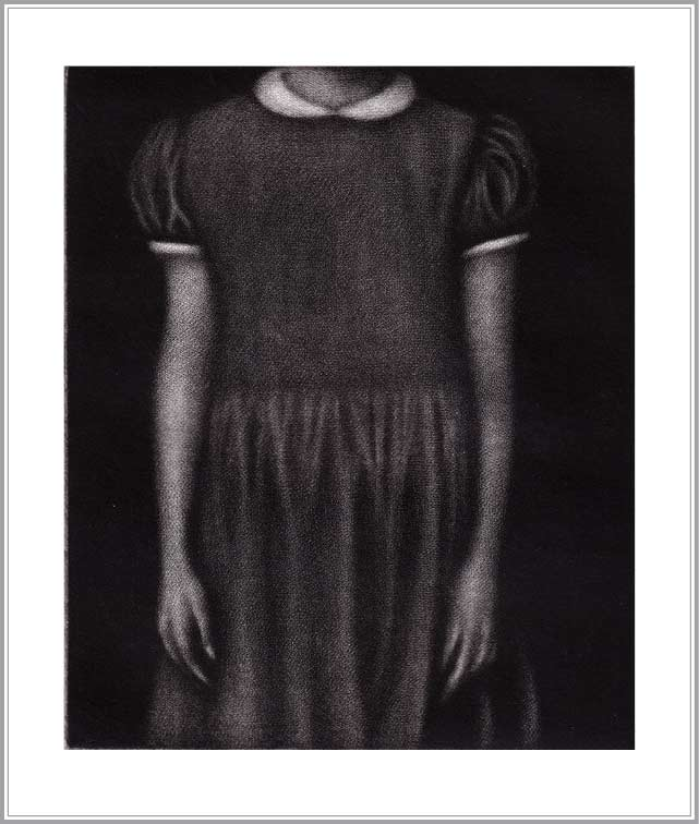 Cleo Wilkinson 5, Australia, Acquiesce, 2009, Mezzotint, 12 x 10 cm