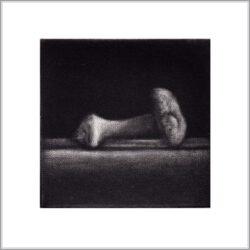 Cleo Wilkinson 8, Australia, Mushroom, 2011, Mezzotint, 5 x 5 cm