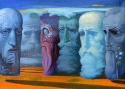 Agron Bytyçi, Kosovo, Traveling, 2005, oil on canvas, 27 x 22 cm