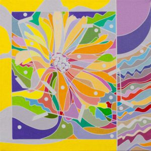Ai-Wen Wu Kratz, USA, Color Logic II / Yellow, 2018, acrylic on canvas, 25 x 25 cm