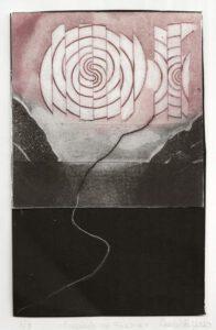 Ana Galvão, Portugal, Crepúsculo na Falésia, 2020, copper etching, 25 x 15,5 cm