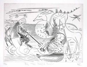 Barry Cottrell, United Kingdom, By The Bright Breeze, 2002, burin engraving on copper, 15 x 20 cm