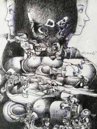 Carlos Braché , Peru, The Fabulous Destiny Of The Memory, 2021, drawing, 20 x 29 cm