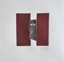 Conceição Freitas, Portugal, Interweaving, 2020, mezzotint and water ink, 20 x 29 cm