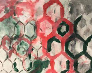 Eileen Tavolacci, USA, Untitled, November 2019, monotype print 20 x 29 cm