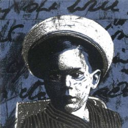 Eleanora Hofer, South Africa, Beyond Words 1V, 2019, linocut printed over Inkjet, 12 x 12 cm
