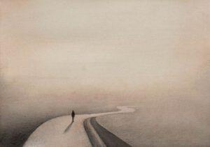 Gerhard Rasser, Austria, Quo Vadis?, 2020, watercolor, 29 x 21 cm