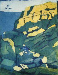 Gerhardt Gallagher, Ireland, Rocky Detour, 2018, aquatint etching, 18 x 21 cm