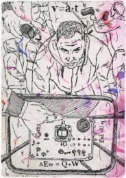 Izabela Kucharska, Poland, Work Records III, 2021, etching with digital background, 12 x 17 cm
