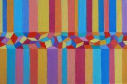 Josip Rubes, Croatia, Geometric Composition, 2020, oil on canvas, 20 x 30 cm
