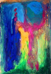 Megan Vun Wong, Canada, 2022, 2021, acrylic on paper, 18 x 29 cm