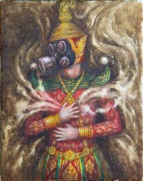Mr.Sompong Tang-sathapornnit, Thailand, The Pollution – 2020#2, 2020, acrylics on canvas, 20 x 29 cm