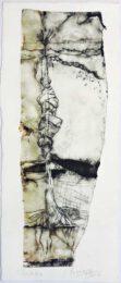 Patricia Pascazzi, Argentina, Renacido, 2017, punta seca s/tetra, 29 x 12,5 cm