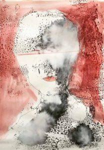 Rosa Viñas, Spain, Greta Dreams, 2020, watercolor, 29 x 20 cm