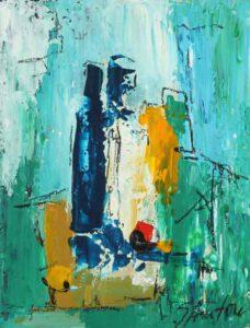 Silvia Anton, Romania, Static, oil on cardboard, 30 x 20 cm