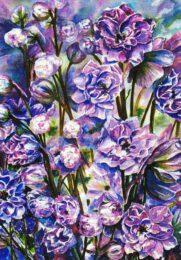 Agnes Parcesepe, Australia, Colour of Spring, 2006, watercolor on thick handmade paper, 56 x 76 cm