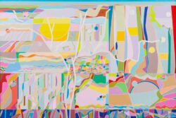 Ai-Wen Wu Kratz, USA, Upon Far And Near, 2020, acrylic on canvas, 61 x 91 cm