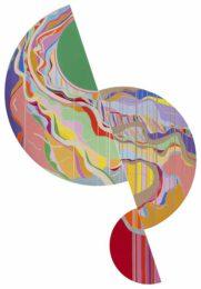 Ai-Wen Wu Kratz, USA, Renewal I, 2014, acrylic on canvas,152 x 105 cm