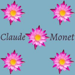 Alessandra Dieffe, Italy, Pattern for Monet, digital graphic, 70,56 x 70,56 cm