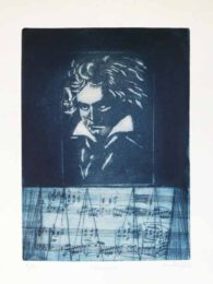 Ana Galvão, Portugal, Beethoven I, 2020, copper etching, 31 x 23 cm