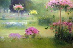 Aulikki Nukala, Finland, Peace In The Garden, 2012, oil on canvas, 90 x140 cm