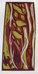 Barry Cottrell, United Kingdom, Fall – Season Of Surrender, 2004, colour linocut, 61 x 29,10 cm