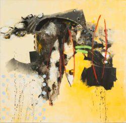 Bogdan Dyulgerov, Bulgaria, Untitled 171, 2018, mixed media on canvas, 100 x 100 cm