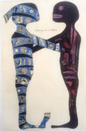 Carla Kleekamp, The Netherlands, Talking About Culture, 2011, etching, aquarelle, 60 x 38 cm