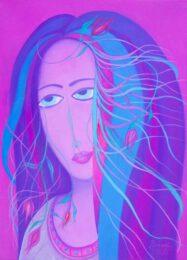 David Beeri, USA, Girl-Beauty, 2020, oil on canvas, 44 x 32 cm